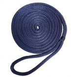 Robline 38 X 25 Premium Nylon Double Braid Navy Blue Dock Line-small image