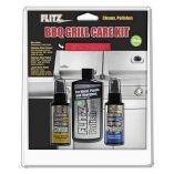 Flitz Bbq Grill Care Kit WLiquid Metal Polish, Stainless Steel Cleaner, Stainless Steel PolishProtectant Towelettes Microfiber Cloth-small image