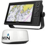 Garmin Gpsmap 1242xsv Keyed Networking Combo WGmr 18 Hd Dome Radar-small image