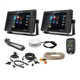 Lowrance Hds Live Bundle 2 12 Displays, Ai 3In1 TM Transducer, Point 1 Gps, Lr1 Remote Cabling-small image