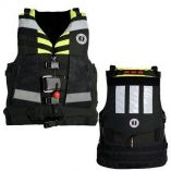 Mustang Universal Swift Water Rescue Vest Fluorescent YellowGreenBlack-small image