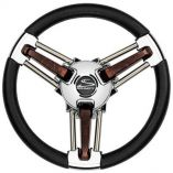 Schmitt Ongaro Burano Wheel 14 Black Polyrethane 34 Tapered Hub-small image