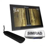 Simrad Go9 Xse Chartplotter Radar Bundle Halo20 WTransom Mount Active Imaging 3In1 Transducer-small image