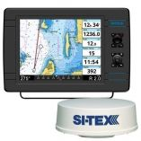 SiTex Navpro 1200f WMds12 Wifi 24 HiRes Digital Radome Radar W10m Cable-small image