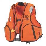 Stearns Manual Inflatable Vest WNomex Fabric OrangeBlack LXl-small image