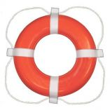 Taylor Made Foam Ring Buoy 24 Orange WWhite Rope-small image