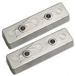 Tecnoseal TecBnt Bennett Trim Tab Anode Zinc Pair-small image