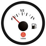 Vdo Viewline Ivory Fuel Gauge 1224v Use With 24033 Ohm Sender-small image