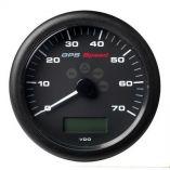 Vdo Marine 414 110mm Viewline Gps Speedometer 070 KnotsKmhMph 8 To 16v Black Dial Bezel-small image