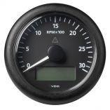 Vdo Marine 338 85mm Viewline Tachometer WMultiFunction Display 0 To 3000 Rpm Black Dial Bezel-small image