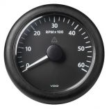 Vdo Marine 338 85mm Viewline Tachometer 6000 Rpm 8v32v Black Dial Bezel-small image