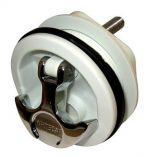 Whitecap THandle Latch Chrome Plated ZamacWhite Nylon No Lock Freshwater Use Only-small image