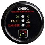 Xintex Gasoline Fume Detector Alarm WPlastic Sensor Black Bezel Display-small image