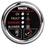 Xintex Gasoline Fume Detector Blower Control WPlastic Sensor Chrome Bezel Display-small image