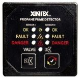 Xintex Propane Fume Detector Alarm W2 Plastic Sensors Solenoid Valve Square Black Bezel Display-small image